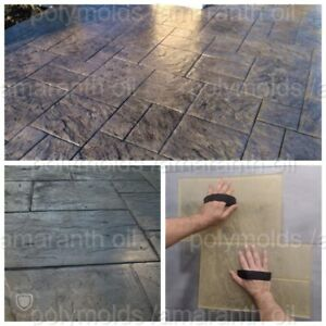 Polyurethane Stamp Rubber Mat Sidewalk Concrete Texture Walkway Old City 1
