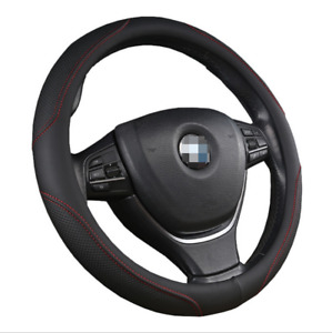 15 Car Steering Wheel Cover Pu Leather Black Red Skidproof Protection Cover