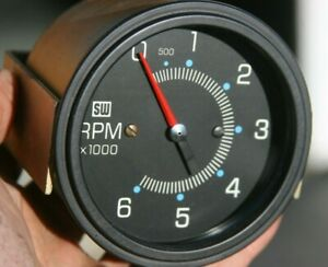 Stewart Warner Mechanical Vintage 3 3 8 6k 6000 Rpm Tachometer