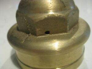 Hupmobile Model 20 Hub Cap Dust Grease Cover Cast In Solid Brass Machined W Flaw