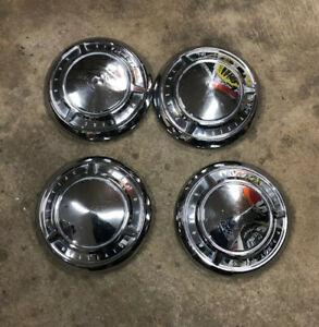 Set Of 4 1961 1962 1963 Pontiac dog Dish Hubcaps Wheel Covers Poverty Pmd Oem