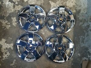 1 New Set 2007 08 09 10 2011 Hhr Malibu 16 Hubcaps Wheel Covers 3275 Chrome