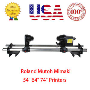 Epson Auto Media Take Up Reel System Roland Sp300 rs640 fj740 Mutoh 1614 1604 Us