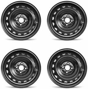 Set 4 15 Black Factory Wheel Fits 12 19 Toyota Prius yaris 15x5 4x100 39mm