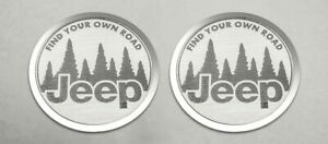 Pair Of Find Your Own Road Badges Emblems For 2007 2018 Jeep Wrangler