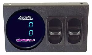 Air Gauge Dual Digital 200 Psi Display Panel Two Paddle Switches Air Suspension