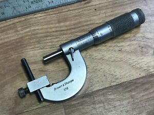 Brown And Sharpe Uni Micrometer 0 1 001