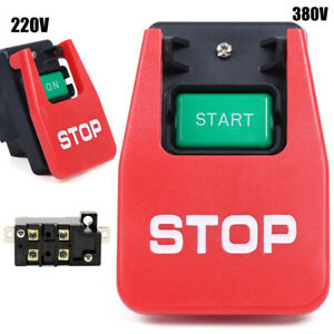 220v 380v 20a Industrial Large On Off Push Button Switch For Table Saw