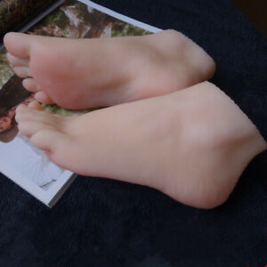 Lifisize 1 1 Silicone Feet Model Portable Mannequin Foot Shoe Display Prop 1pcs
