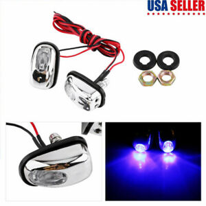 Car Hood Windshield Water Spray Nozzle Washer Lamp With 7 Colors Led Light 12v