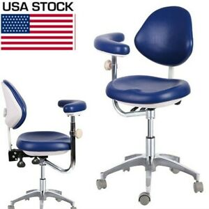 Dental Medical Mobile Chair Doctor s Chair Adjustable Dentist Chair Navy Blue Us