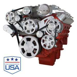 All Inclusive Chevy Lsa Supercharged Serpentine Kit Ac Power Steering Alt Sc
