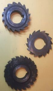 Lot Of 3 Slitting Saw Blades 1 250 Inch Arbor Hss