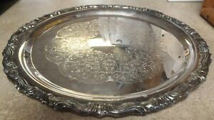 Antique F B Rogers Silver Plated Serving Tray