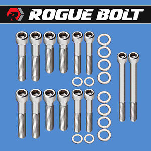 Ford 351c Intake Manifold Bolts 4v Heads Stainless Kit Cleveland Boss Cobra Jet