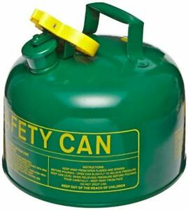 5 Gallon Gas Can Tank Storage Large Five Gal Gl Sturdy Metal Round Big For Safe