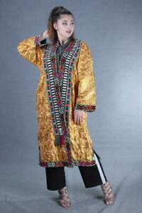 Antique Silk Vintage Hand Embroidery Uzbek Gold Robe Dress Sale Was 209 00