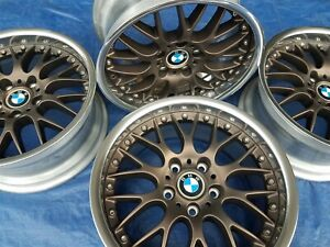 Bmw E28 M5 E24 M6 E30 M3 E39 530 Oem Bbs Rs740 Style 42 17x8 Wheels Rims Bronze