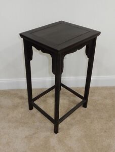 Gorgeous Antique Chinese Zitan Wood Side Table Rare 27 5 Inches