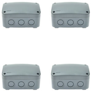 4 Pack Ip66 Waterproof Junction Box Outdoor Underground Cable Line Protection