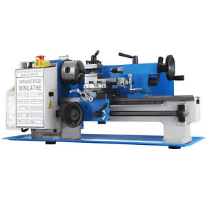 7 x14 Mini Metal Lathe Precision Metalworking Diy Processing Variable Speed