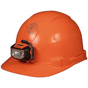 Klein Tools 60900 Hard Hat With Light Non vented Cap Style Padded Sweatband