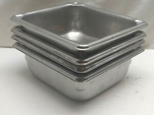 Vollrath Stainless 30622 Super Pan 1 6 Size 2 Steam Table Hotel Pan 4 Pcs Lot