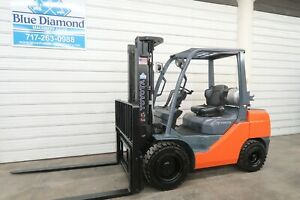 2013 Toyota 8fgu30 6 000 Pneumatic Tire Forklift Lp Gas 3 Stage Sideshift