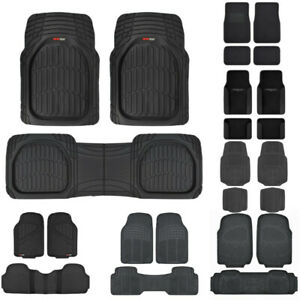 Heavy Duty Car Floor Mats For Sedan Suv Van Truck Carpet Rubber All Weather