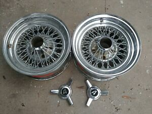 14 Appliance Chrome Wire Spoke Wheels 2 Gm 5 4 75 Lug Pattern With Spinners