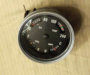 Vintage 1960 s Gm Gmc Chevy Truck Four Gauge Cluster