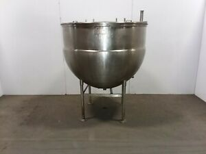 Stainless Steel 300 Gal Jacketed Mixing Batch Tank 40 Psi Open Top W lid