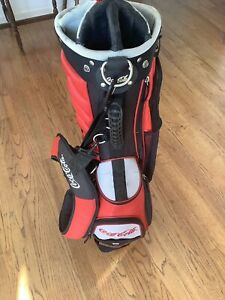 Golf Red Coca Cola Golf Stand Dual Strap 9 Way Carry Bag One Defective Leg
