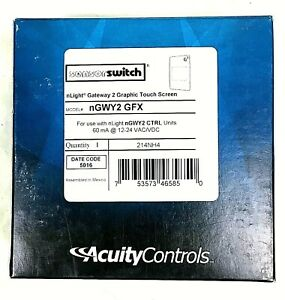 Acuity Controls Nlight Gateway 2 Graphic Touch Screen Ngwy2 Gfx New