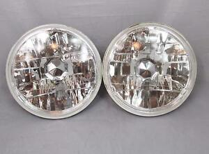 7 Inch Round Diamond Chrome Jeep Wrangler Replacement Clear Headlights Crystal
