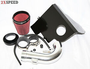 Cold Air Intake Kit W Heat Shield For 11 14 Ford Mustang Gt 5 0 302 Boss V8