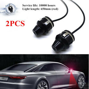 2xuniversal Led Spotlight Car Rearview Mirror Projection Lamp Door Welcome Light