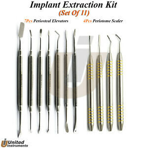 Dental Implant Extraction Kit Periodontal Pdl Periotome Periosteal Elevators Set