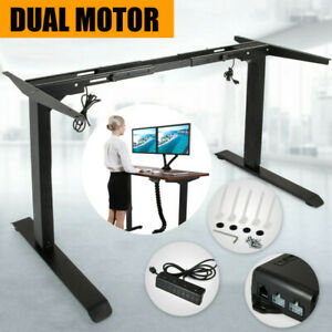 Electric Height Adjustable Standing Desk Frame Dual Motor And Memory Control