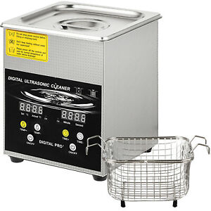 New 2l 200w Ultrasonic Cleaner Stainless Steel Industry Heated Heater W timer