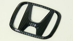 16 19 New Black Carbon Fiber Fits Honda Civic Rear Jdm Emblem Hatch 4 Door 18 19
