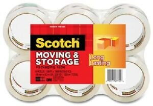 3m Scotch 6 Pack 1 88 X 54 6 Yd Long Lasting Moving Storage Packaging Tape