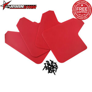 Car Mud Flaps Red Splash Guards Mudguards Universal For Subaru Honda Civic Ford
