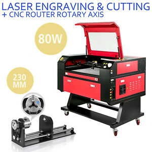 80w Laser Engraver Machine Rotary Axis Co2 Laser Engraving Machine 700 500mm