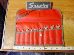 Snap On Tools 9 Piece Sae 6 Point Ignition Wrench Set C90 Kit Made In The Usa