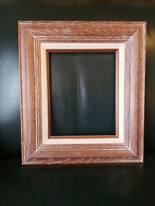 Gorgeous Vintage Mid Century Modern White Washed Oak Frame Mcm 8x10 In Fit
