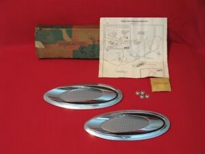 Nos 1958 Chevrolet Exhaust Ports Original Gm 987779 With Nuts Instructions Box