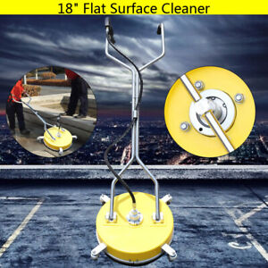 18 Concrete Cleaner Flat Surface Pressure Washer 4000psi 275bar Cold Hot Water