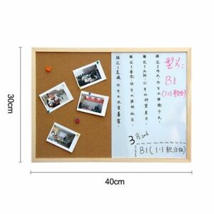 Combination Board Message Cork Wood Frame Drawing Bulletin Whiteboard Magnetic