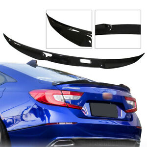 For 2018 2020 Honda Accord 10th Gen V Type Painted Black Pearl Trunk Lid Spoiler